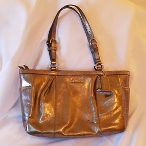 Coach Bronze Metallic Satchel